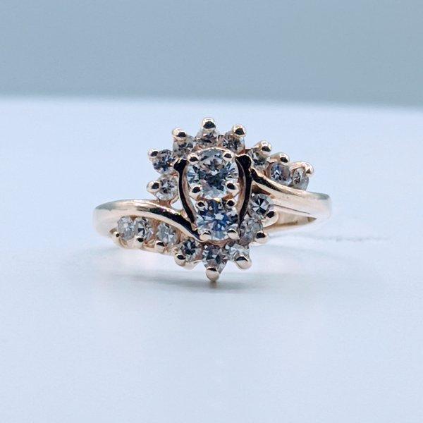 Ring .75ctw Diamond 14ky Sz7 119110201