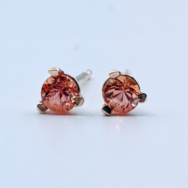 Earring 1.3ctw Imperial Topaz 14ky 119110212