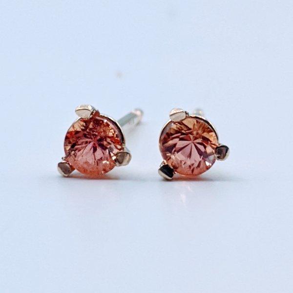 Earrings .30ctw Orange Sapphire 119110216