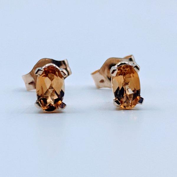 Earrings 5x3mm Tourmaline 14ky 119110218