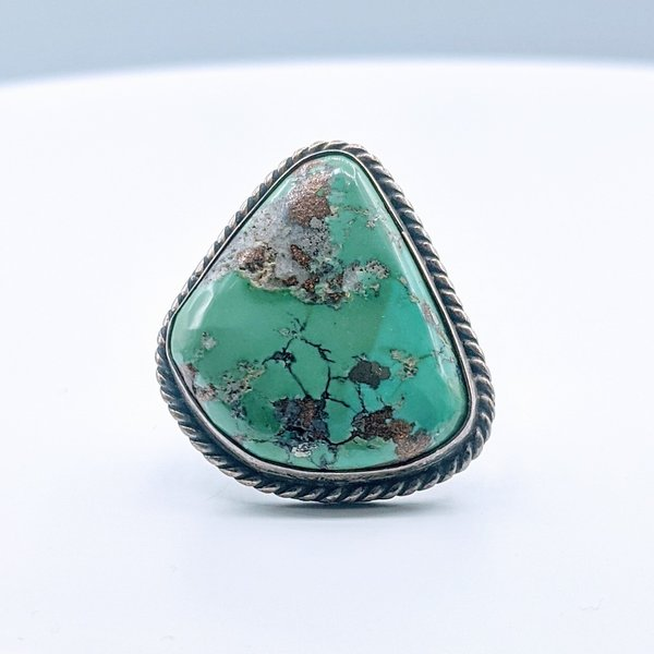 Ring Native American Turquoise SS Sz7 219120003