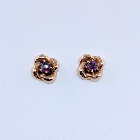 Earrings Pink Sapphire Swirl 14ky 219120006
