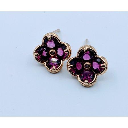 Earrings 1.5ctw Garnet 14ky 319110009
