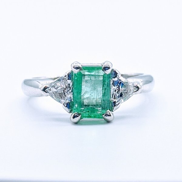 Ring 1.06ct Emerald & Diamond Platinum Sz6.25 119070067-2
