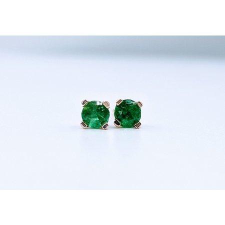 Earrings 1/5ctw Emerald 14ky 319110012