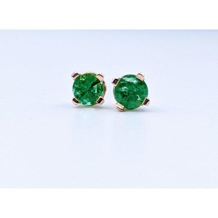 Earrings 1/4ctw Emerald 14ky 319110014