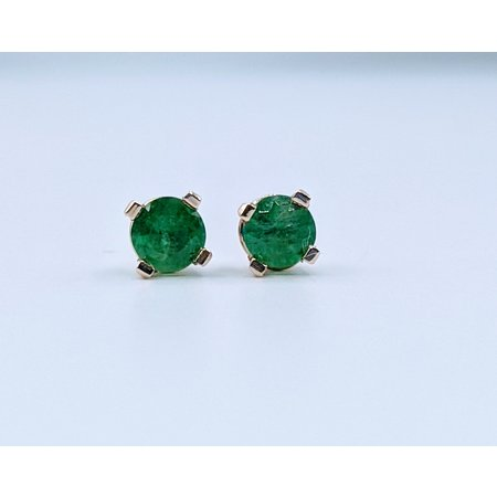 Earrings 1/4ctw Emerald 14ky 319110013