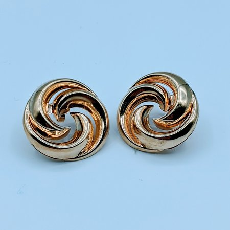 Earrings Swirl Style 14ky 219120102