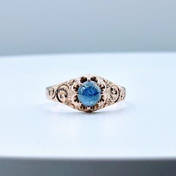 Ring Victorian Sapphire(.75ct) 10kr Sz10.5 310-01197