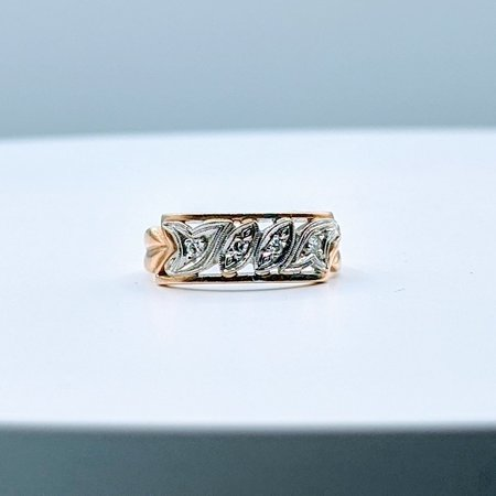 Ring Vintage Diamond(.05ctw)14ktt Sz6 4pc-4