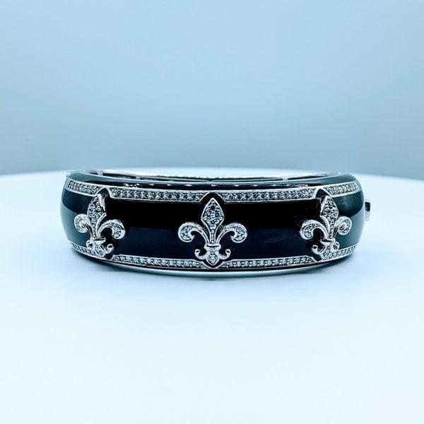 Bracelet Belle Etoile Fluer Black Enamel SS 219120038