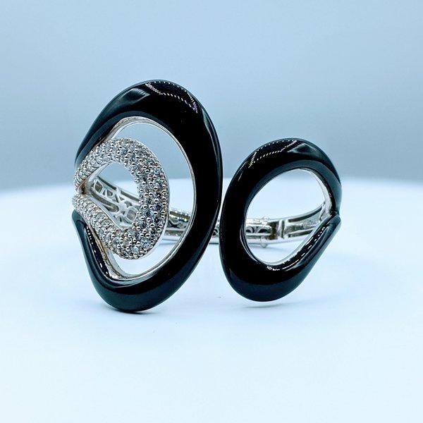 Bracelet Belle Etoile Black Enamel & Cz SS 219120043