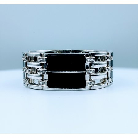 Bracelet Belle Etoile Black Rubber & Cz SS 219120036