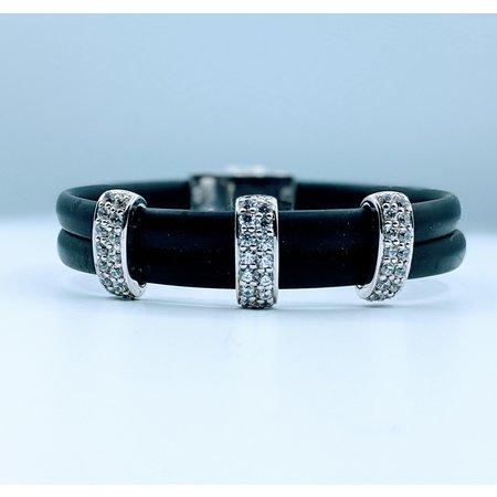 Bracelet Belle Etoile Black Rubber Cz 219120040