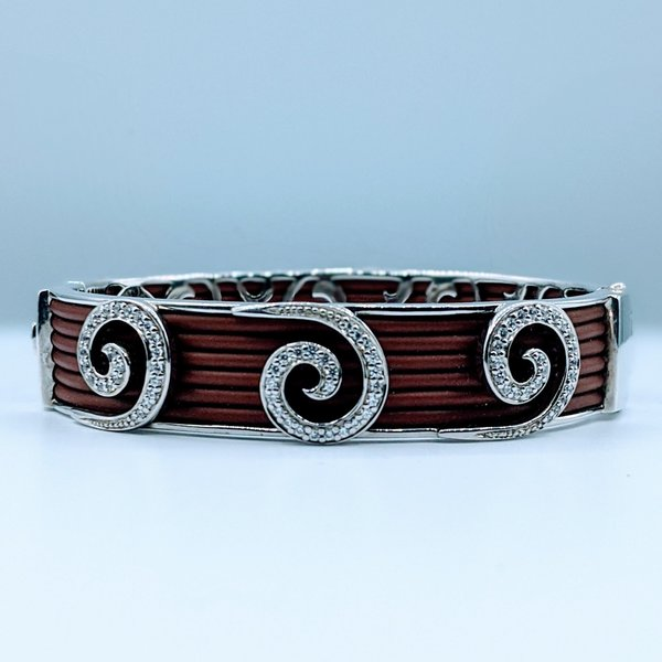 Bracelet Belle Etoile Brown Rubber & Cz 219120034