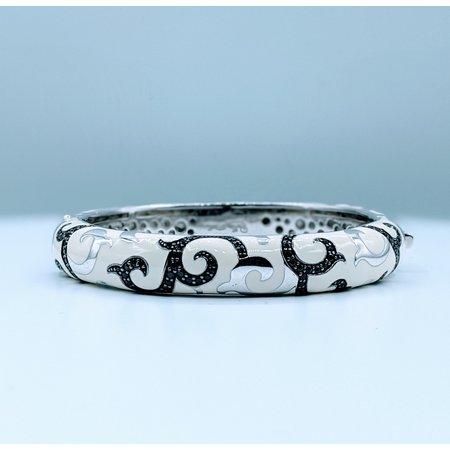 Bracelet Belle Etoile White Enamel & Black CZ Ss 219120039
