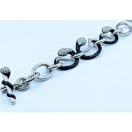 Bracelet Belle Etoile Black Enamel Snake SS 219120042