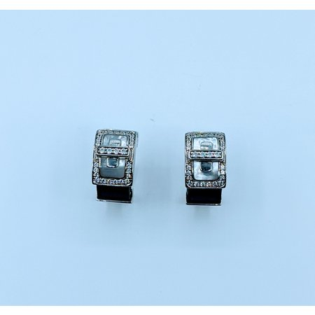 Earrings Belle Etoile Black Rubber & MOP SS 219120052