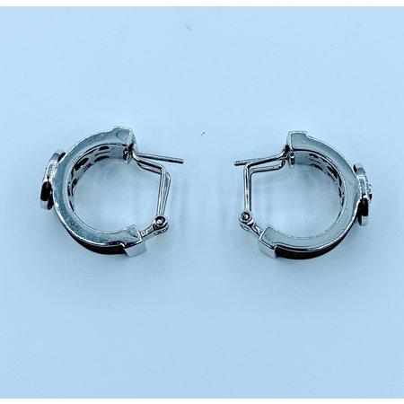 Earrings Belle Etoile Brown Rubber & Cz SS 219120051