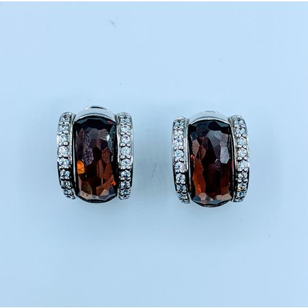 Earrings Belle Etoile Brown Crystal & Cz SS 219120053