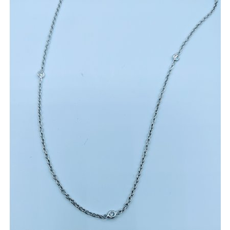"Necklace 17"" 0.20ctw Diamond Bezel 14kw 120010021"