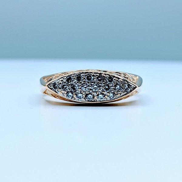 Ring .18ctw Diamond Euro Shank 18ky 120010028