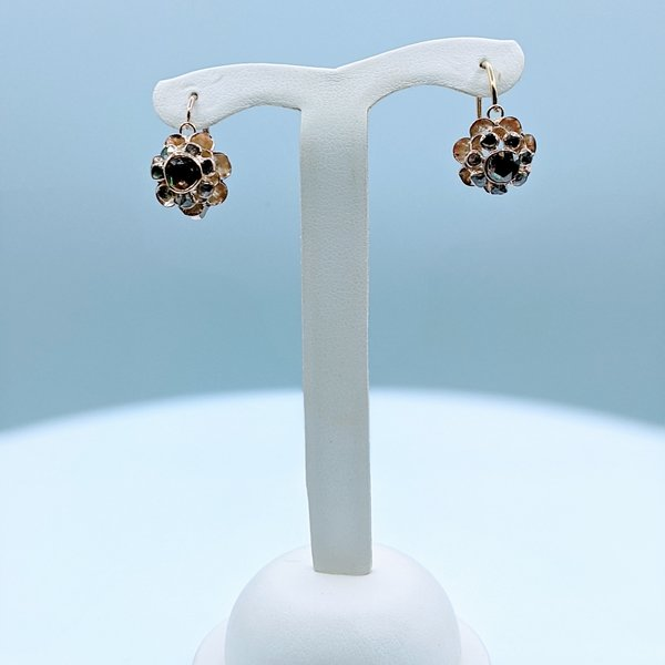 Earrings Vintage Rose Cut .80ctw Diamond Drop 14ky 220010028