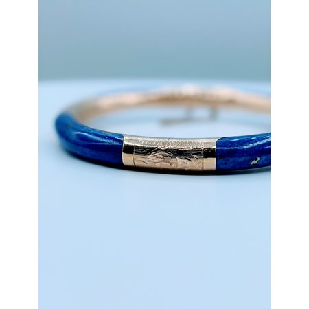 Bracelet 14ky Bangle Lapis Inlay 220010021
