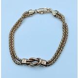 Bracelet Double Strand Knot 14ky 220010027