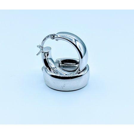 Earrings Thick Hoop 14kw 120010027