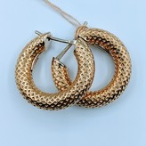 Earrings Thick Hoop 14ky 120010024