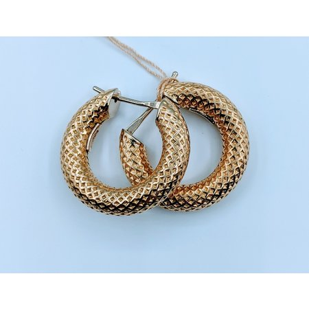 Earrings Thick Hoop 14ky 120010024