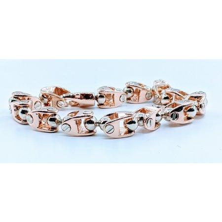 Bracelet Fancy Link Mens Two Tone 14ky 419110841