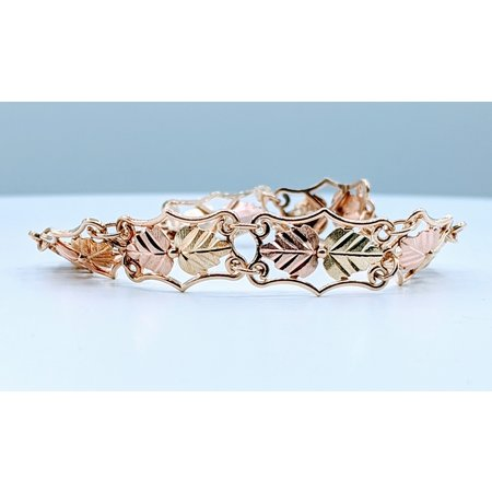 """Bracelet 10k Black Hills Gold Leaf Design 7"""" 419110828"""