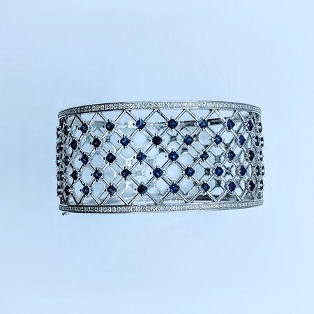 Bracelet Sapphire 6.42ctw Diamond .94ctw 14kw 220010036