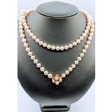 """Necklace Akoya Pearl Strand 7.5mm 14ky 34"""" 220010065"""