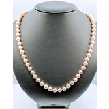 """Necklace Akoya Pearl Strand 7.5mm 14ky 23"""" 220010067"""