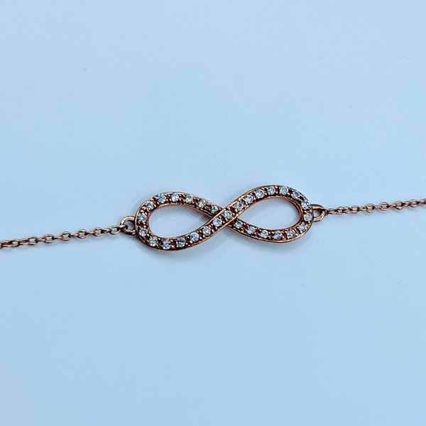 "Bracelet Infinity Diamond .12ctw 14kr 7-8"" 220010062-40"