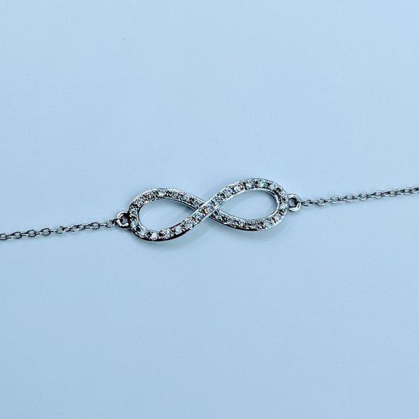 "Bracelet Infinity Diamond .12ctw 14kw 7-8"" 220010059-37"