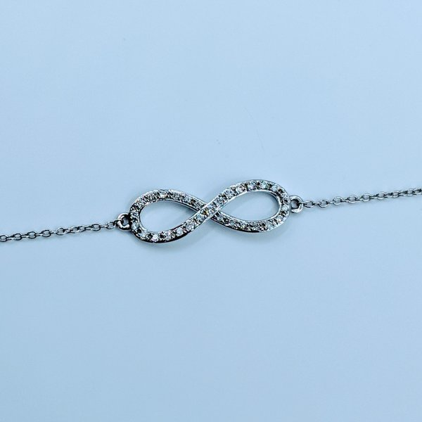 "Bracelet Infinity Diamond .12ctw 14kw 7.5-8"" 220010060-38"
