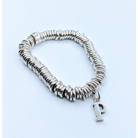 "Bracelet Links of London Sterling ""P"" 7"" 220010077"
