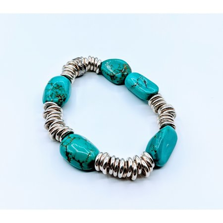 "Bracelet Links of London Turquoise and Sterling 7"" 220010074"