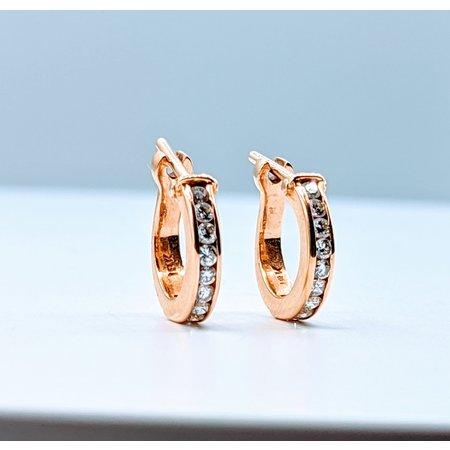 Earrings .20ctw Diamond Hoop 18ky 220010069