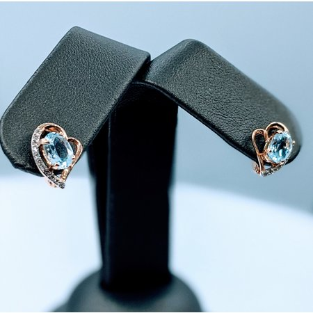 Earrings 1.5ctw Topaz & Diamond 14kr 119110127