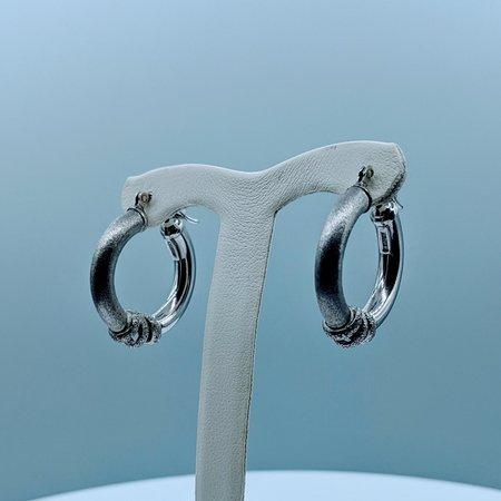 Earrings Textured SS Hoop 220020025