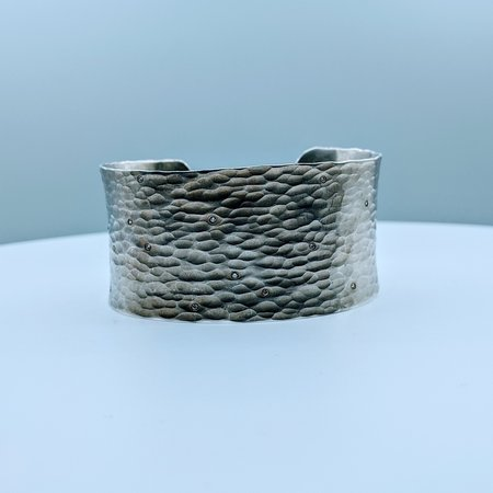 """Bracelet .12ctw H-I I Silver Bangle SS 6.25"""" 220020015"""