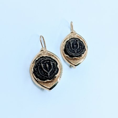 Earrings Ancient Coin 14ky/Bronze 220020057