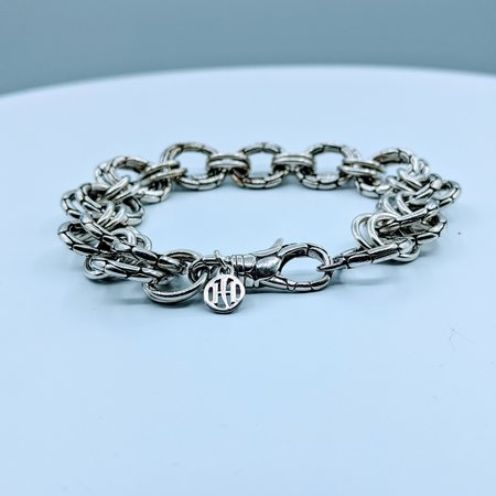 "Bracelet John Hardy Double Link 8"" SS 220020059"