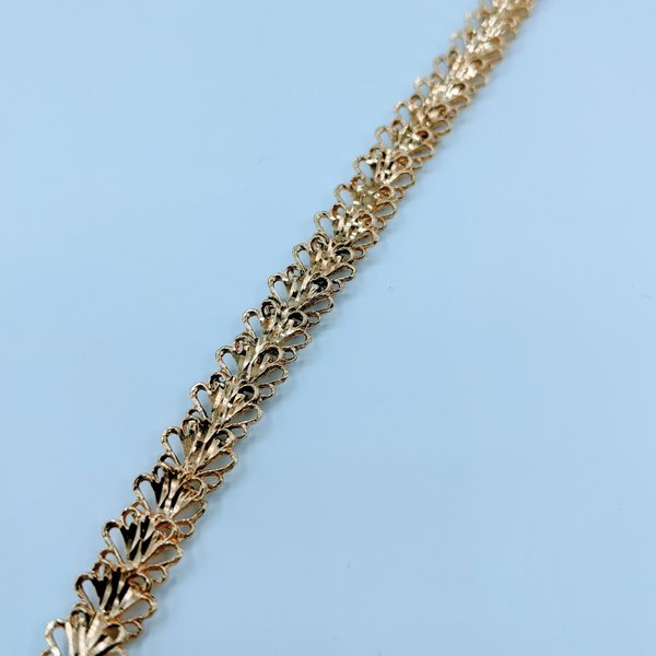 "Bracelet 7"" Fancy Link 14ky 120020014"
