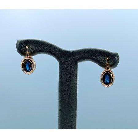 Earrings 5x3mm Sapphire 18ky 120020039